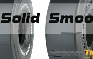 Solid Smooth Skid Steer Tire Features
